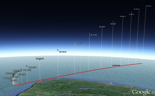 Entry Trajectory from 200km in altitude to splashdown. - Data courtesy of Bill Gray, Project Pluto