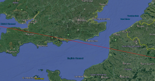 Approximate Ground Track - Image: Google Earth/Spaceflight101