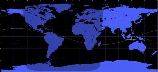 Falcon 9 F28 final orbit - Image: Spaceflight101/Orbitron