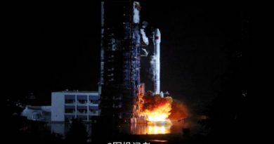 Re-Entry: Long March 3B Rocket Body from Tiantong-1 Launch