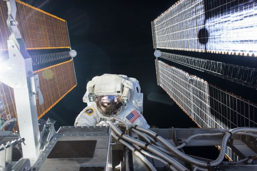 Kate Rubins during her second Spacewalk - Photo: NASA