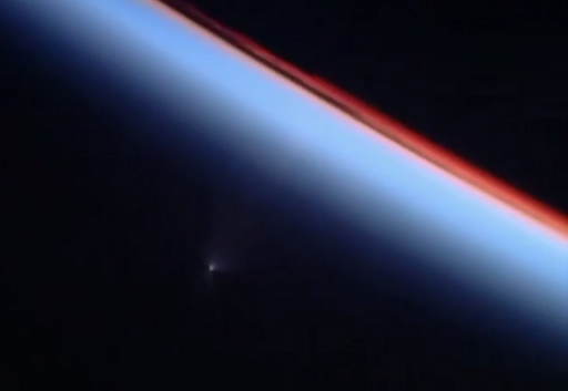 The Ascending Soyuz seen from the Space Station - Credit: NASA TV
