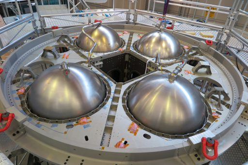 ESM Propellant Tanks (Top View) - Photo: Airbus Defence & Space