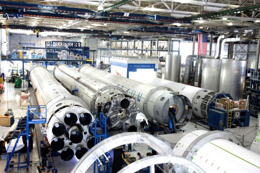 Falcon 9 Production Hall - Photo: SpaceX