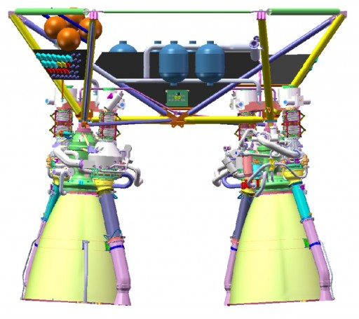 Dual Main Engine Assembly - Image: CALT
