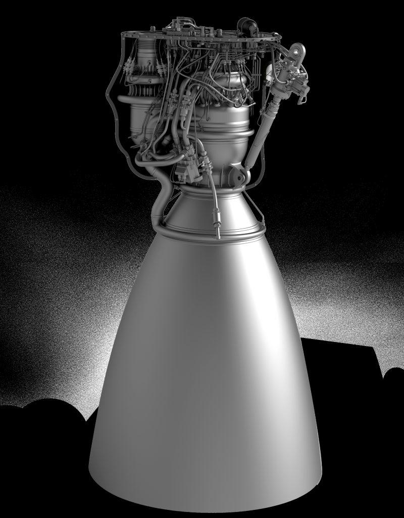 Raptor CAD Model - Credit: SpaceX