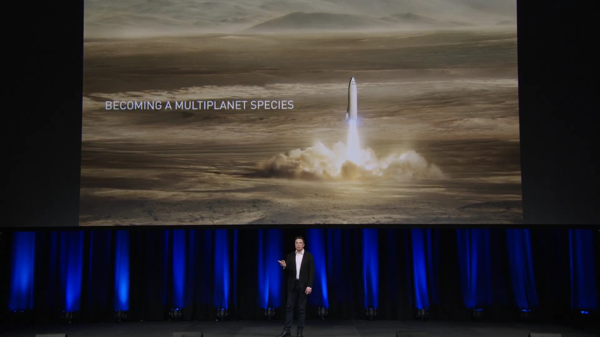presentation slides elon musk update on spacex s interplanetary transport system