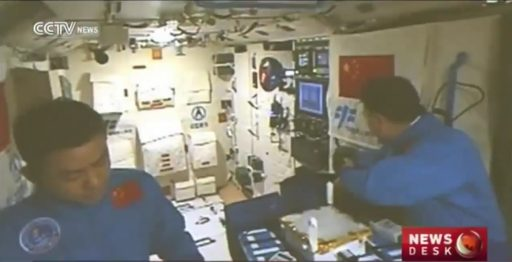 Day 4 on Tiangong-2 - Photo: CCTV