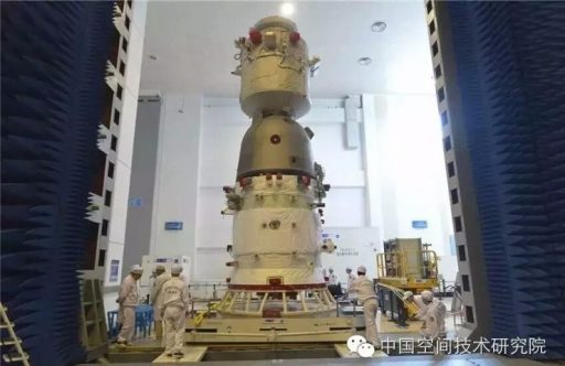 Shenzhou-11 during processing - Photo: Weibo via Chinaspaceflight.com