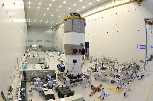 Tiangong 1 Assembly (TG-2 Identical) - Photo: China National Space Administration