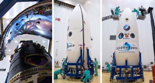Fairing Encapsulation - Credit: Arianespace