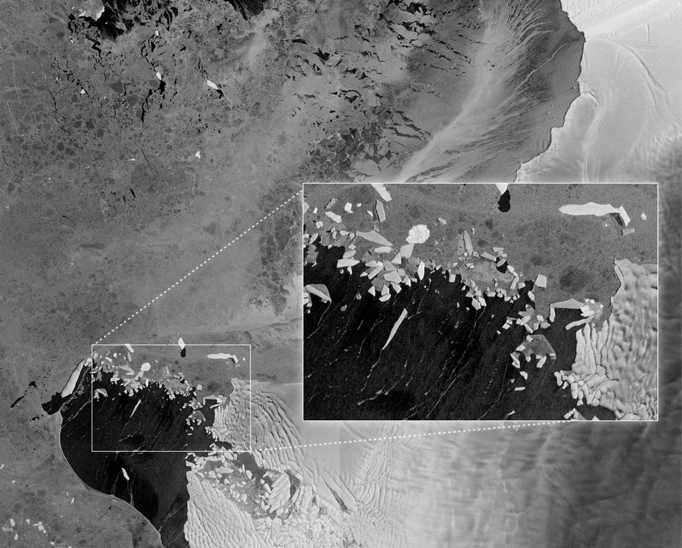 Pine Island and Thwaites Glaciers - Image: ESA