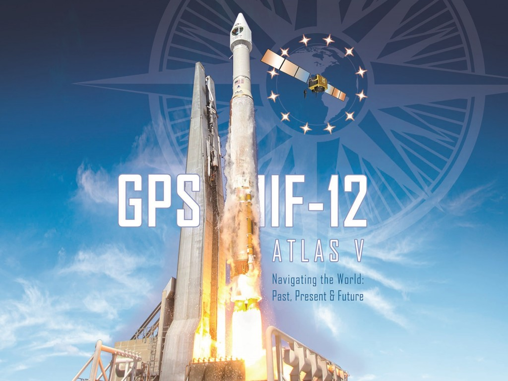 Atlas V GPSIIF12 Mission Art