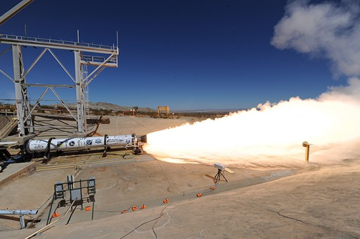 LEO-46 Ground Test - Photo: Aerojet-Rocketdyne