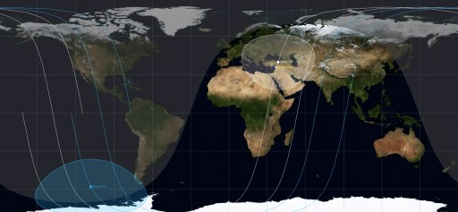 Orbital Tracks of Resurs-P 1 & 2 - Image: Spaceflight101.com/JSatTrak