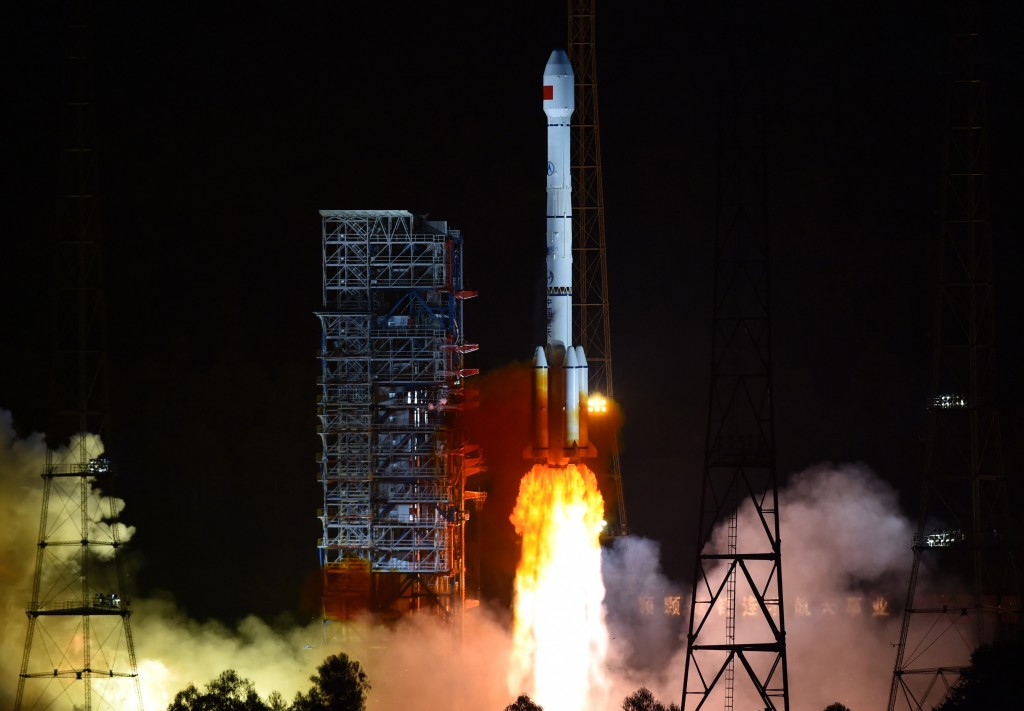 Long March 3B with Beidou-3M 1S & 2S - Credit: Xinhua