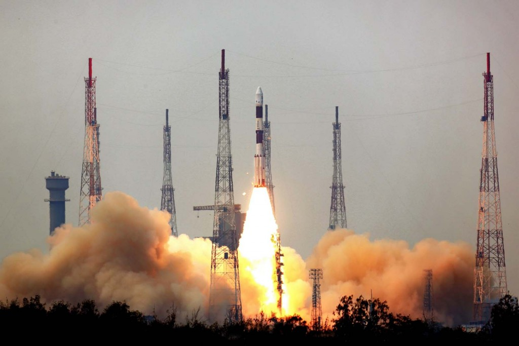 PSLV with AstroSat and Secondary Payloads - Credit: ISRO