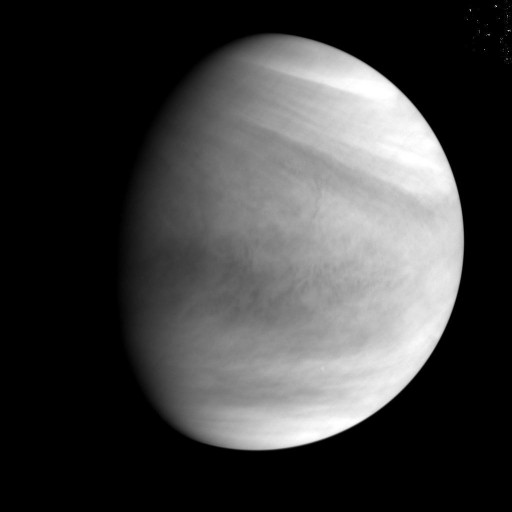 Ultraviolet Image of Venus from a Distance of 72,000 Kilometers - Credit: JAXA