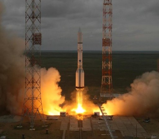 Proton-M launches with MexSat-1 - Credit: Roscosmos