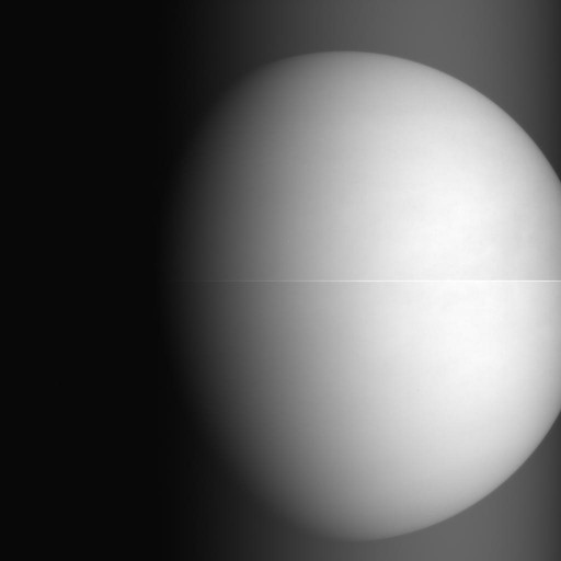 Infrared Image of Venus taken at a distance of 68,000 Kilometers on December 7 - Credit: JAXA