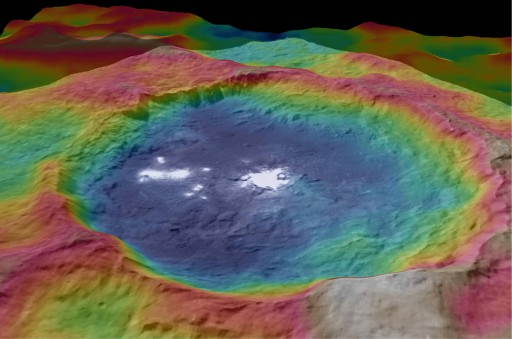 Occator Topography - Credit: NASA/JPL-Caltech/UCLA/MPS/DLR/IDA