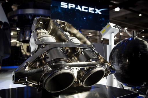 SuperDraco Engine Cluster - Photo: SpaceX