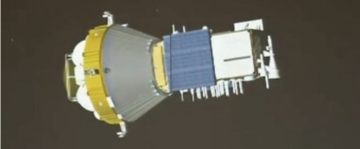 YZ-1 Upper Stage carrying the first Beidou-3 IGSO Satellite - Image: CCTV