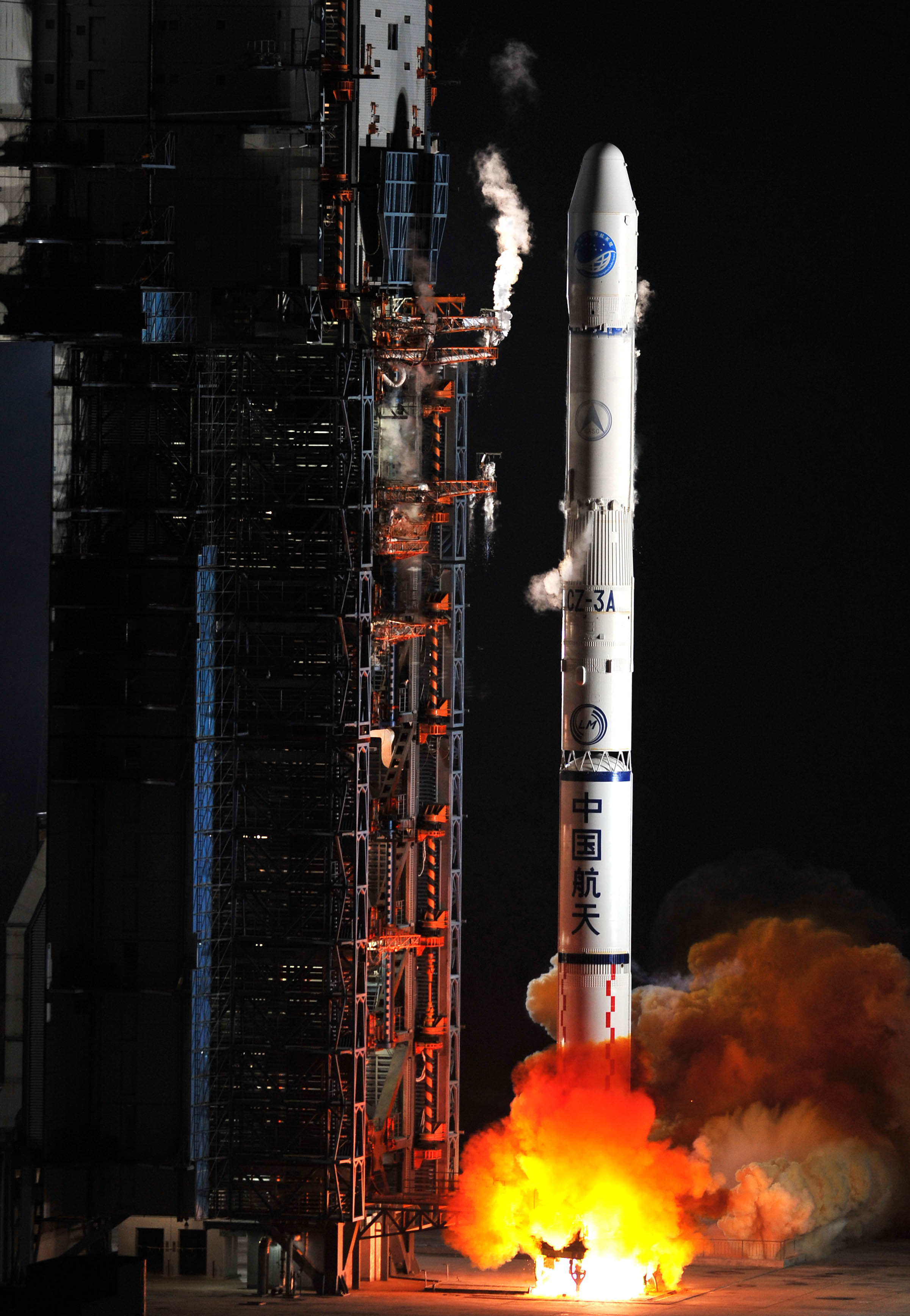 Chinese Long March 3a Rocket Blasts Off With Beidou