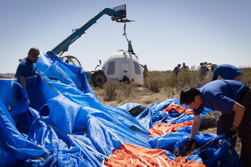 Crew Capsule Recovery - Photo: Blue Origin
