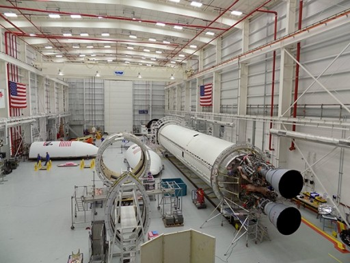 Antares in MARS Integration Facility - Photo: Orbital ATK