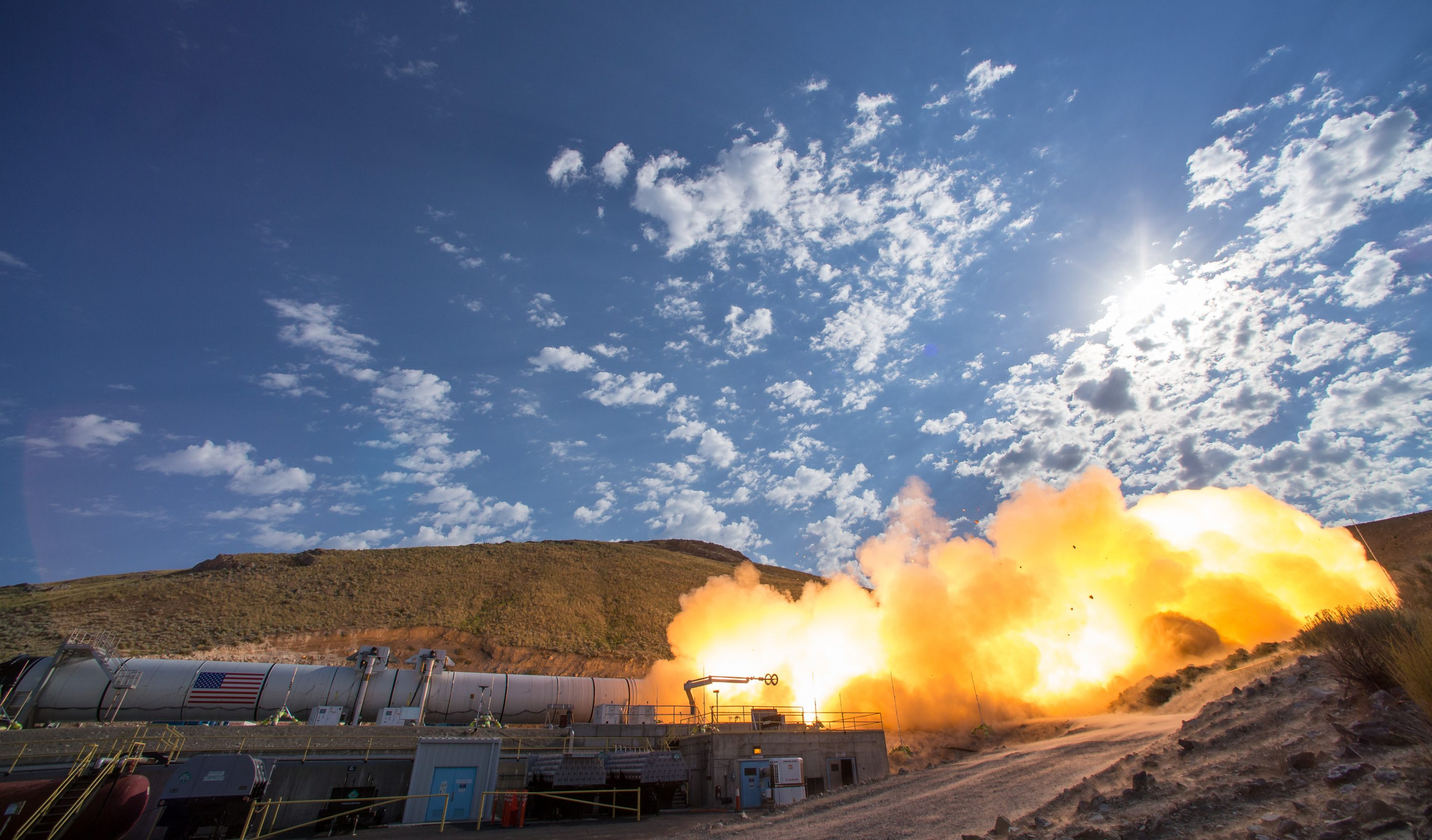 Booster Test for Space Launch System Rocket