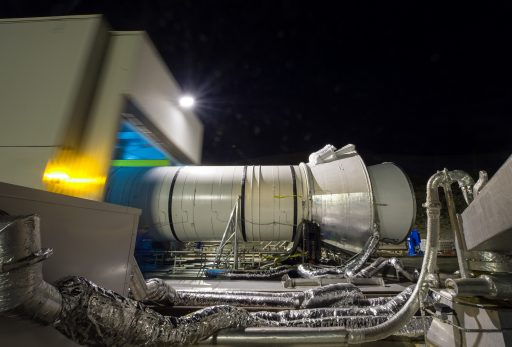 The protective housing that provided refrigeration to the booster for six weeks - Photo: NASA/Bill Ingalls