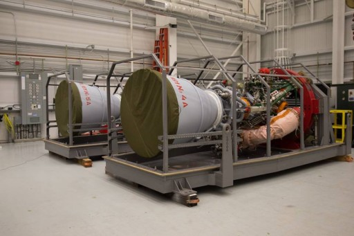 RD-181 Engines arrive for Integration with Antares - Photo: NASA
