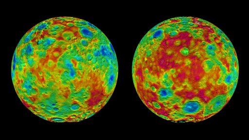 Topographic Maps of Ceres - Credit: NASA/JPL-Caltech/UCLA/MPS/DLR/IDA