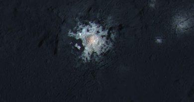 Dawn spacecraft sails into Extended Mission, solves Mystery of Asteroid Ceres' brightest Area