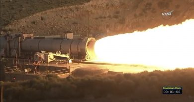 Massive Solid Rocket Booster fired for final Ground Test before Flight on NASA's SLS