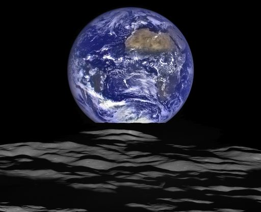 LRO's Earthrise Photo - 2015 Composite Image - Credit: NASA/Goddard/Arizona State University