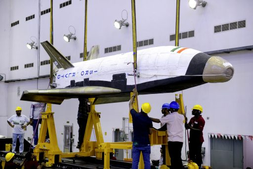RLV-TD Winged Space Vehicle - Photo: ISRO