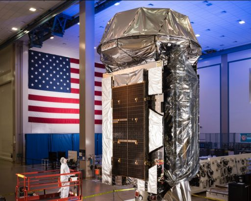 MUOS 5 during final processing – Photo: Lockheed Martin