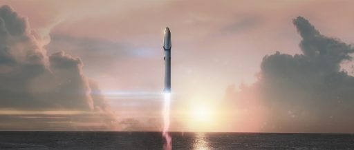 SpaceX's Interplanetary Transfer System thunders off from Florida - Image: SpaceX