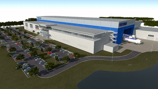 Artist's Illustration of Blue Origin's Manufacturing Facility – Image: Blue Origin