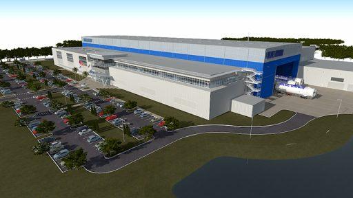 Artist's Illustration of Blue Origin's Manufacturing Facility – Image: Blue Origin