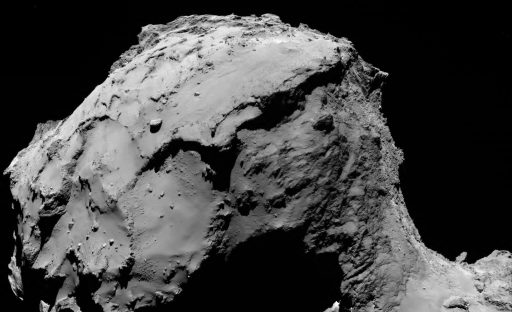 Rosetta's OSIRIS wide-angle imager captured this photo from a distance of 15.5 Kilometers - Credit: ESA/Rosetta/MPS for OSIRIS Team MPS/UPD/LAM/IAA/SSO/INTA/UPM/DASP/IDA