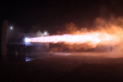 SpaceX's Raptor Test Unit fires up at McGregor - Photo: SpaceX/Elon Musk