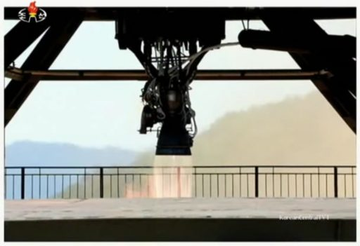 Engine Test Closeup - Photo: KCTV via KoreanCentralTV1/YouTube