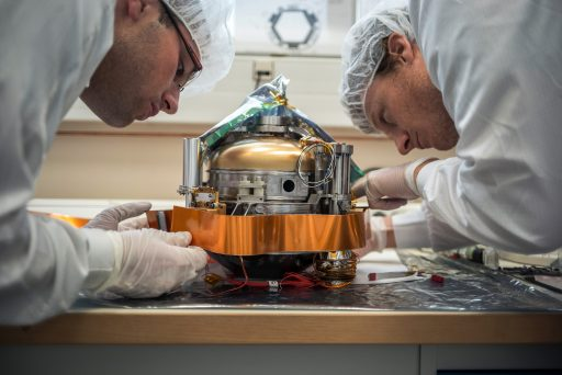 SEIS Instrument during Assembly – Photo: CNES