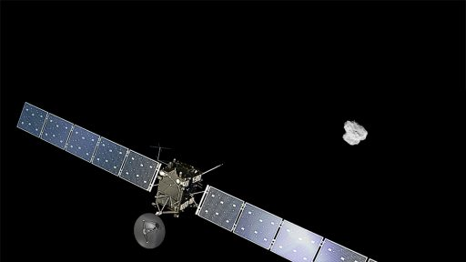 Rosetta approaches the comet - Credit: ESA/ATG medialab