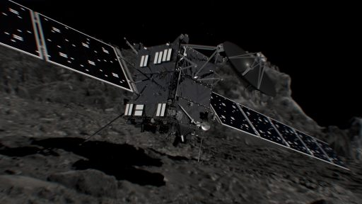 Rosetta's low-speed collision with 67P - Image: ESA/ATG Medialab