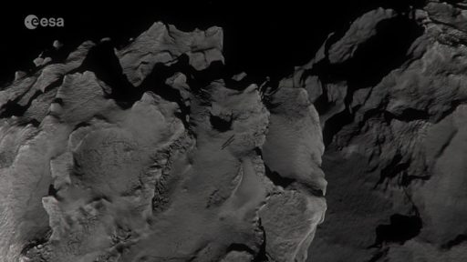 Artist's impression of Rosetta descending to the surface of Comet 67P - Image: ESA/ATG Medialab