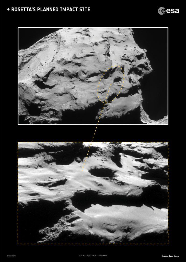 Rosetta's planned Impact Site - Credit: ESA/Rosetta/NavCam